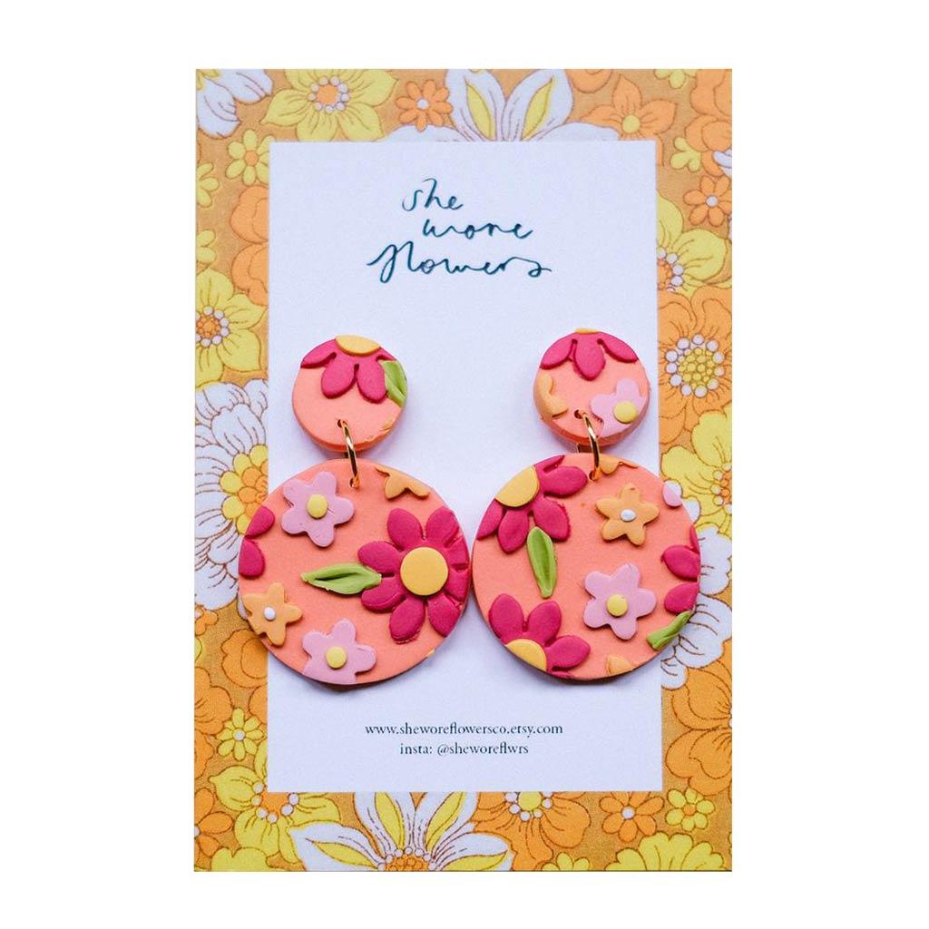 She Wore Flowers Dangle Earrings Gift Guide